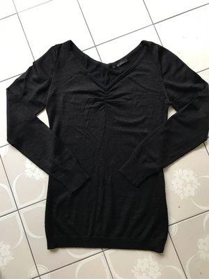 日本 Le souk V領黑色毛衣 針織衫 上班族