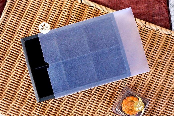 紙盒_抽屜式適80G月餅(黑.霧套)附6格內襯_2入_B035-003B◎抽屜紙盒.封套盒.霧面盒.抽屜式.紙盒