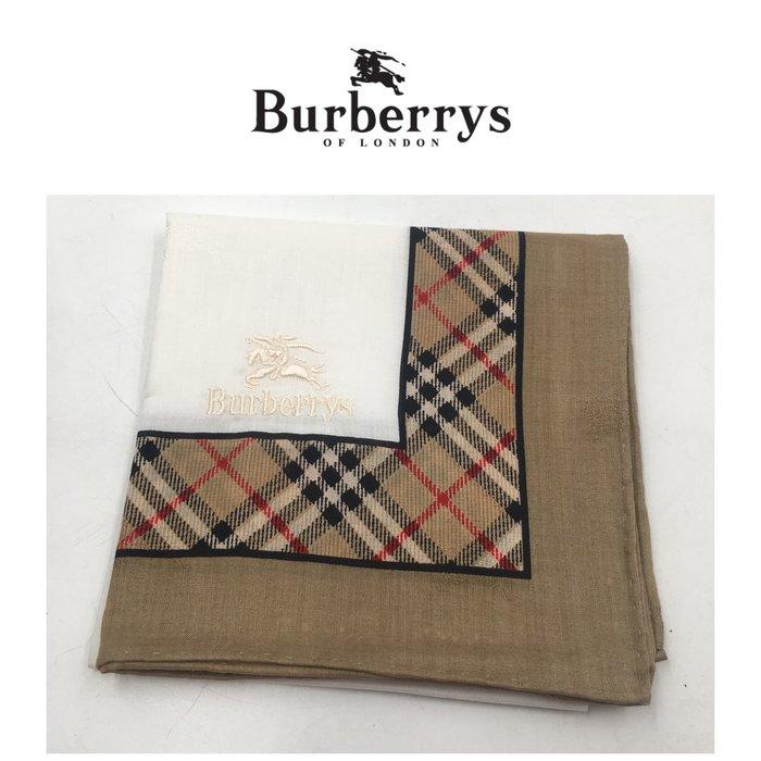 【皮老闆二店】二手真品 Burberry 手帕 手32