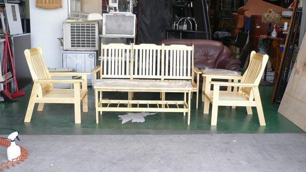 宏品二手傢俱館 庫存家具賣場 A769*全新實木組椅*木製沙發含大小茶几桌/堅固客廳桌椅/餐桌椅/泡茶桌椅