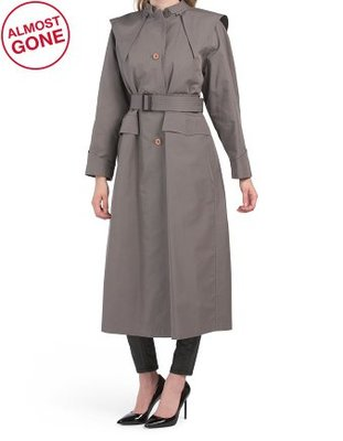 GUCCI Made In Italy Gabardine Trench Coat
