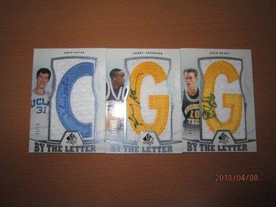 網拍讀賣~Kenny Anderson/ Drew Barry/ Swen Nater~限量字母PATCH球衣簽名卡3張