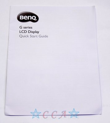 BENQ Gseries LCD Display Quick Start Guide 說明手冊