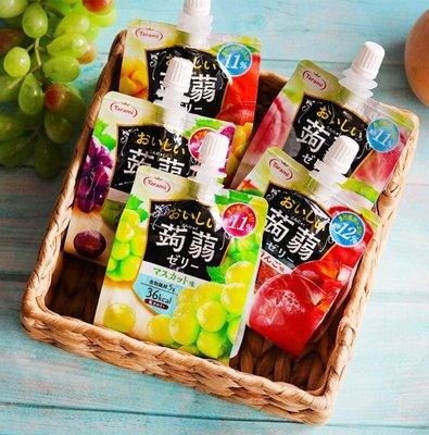 ❤效期最新鮮❤日本Tarami達樂美吸管蒟蒻果凍。蘋果/葡萄/白葡萄/芒果/水蜜桃/