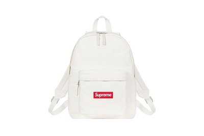GOSPEL【Supreme Canvas Backpack】 FW20 白色 帆布 後背包 SUP122