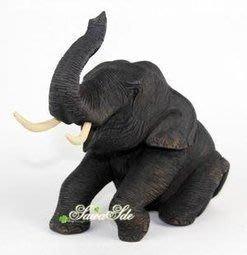 無雙泰國手工雕刻柚木大象擺件禮品饋贈首...
