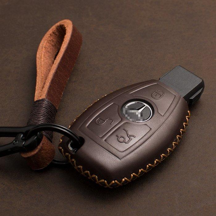 專用于奔馳鑰匙包C級S級E級C200L GLA GLC GLE GLK 汽車用真皮套