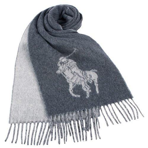 【姐只賣真貨】RALPH LAUREN POLO 經典大馬圖徽保暖圍巾(黑、灰、駝、綠、藍、紅色)