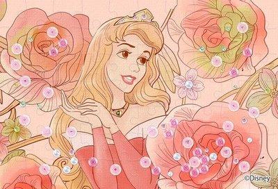 日本進口拼圖 迪士尼 公主 睡美人 奧蘿拉  70片透明塑膠拼圖  97-114