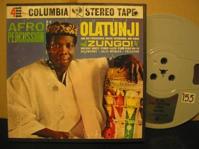 《7吋美版盤帶Reel Tape》非洲鼓第一人Olatunji --Afro Percussion*品況佳*起標價即結標價*少見