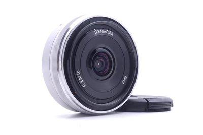 【台中青蘋果】Sony E 16mm f2.8 二手 定焦鏡 鏡頭 E-Mount #15549