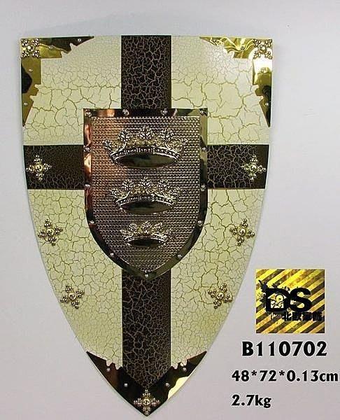 DS北歐家飾§loft工業風古羅馬盾牌皇冠壁飾掛飾玄關壁掛酒吧仿舊復古美式鄉村 中世紀帝國
