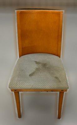 台中二手家具 大里宏品二手家具館 F112636*實木綠布餐椅* 二手各式桌椅 中古辦公家具買賣 會議桌椅 辦公桌椅