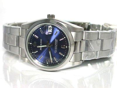 不鏽鋼日期顯示藍色面板時尚錶