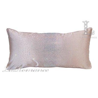 【芮洛蔓 La Romance】 奢華系列繁星點點水鑽腰枕 - 粉晶 / 床枕 / 靠枕