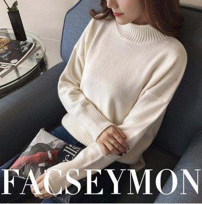 秋裝高領毛衣女韓版套頭學生長袖寬鬆針織打底衫百搭秋冬艾家