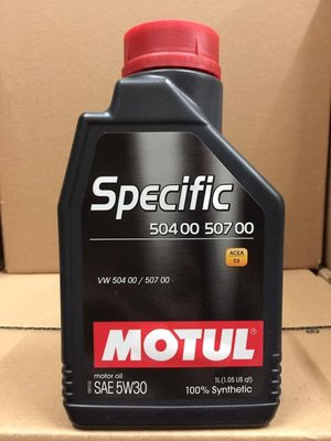 四罐1196元【高雄阿齊】魔特 MOTUL SPECIFIC 504 507 5W30 C3 全合成機油