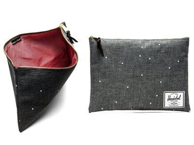 Hsin 6折 現貨 Herschel Network Pouch XL 灰黑 白點 雜物 收納袋 女生 化妝包 手拿包