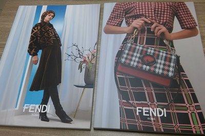 【NOV18f】《FENDI Roma- prefall 2018 秋冬服飾與包包配件型錄》2本目錄合售│中文與英文│9