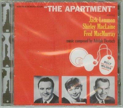 """公寓春光(The Apartment)""- Adolph Deutsch/Andre Previn,全新美版(A49)"