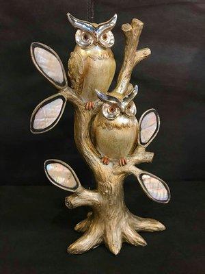 貝殼鏡面貓頭鷹大樹組,附盒裝*最特別的禮物都在奧爾思*