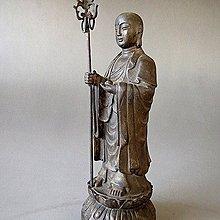 【 金王記拍寶網 】J3015  中國近代銅雕  地藏王菩薩 實心銅雕 一尊 罕見 稀少