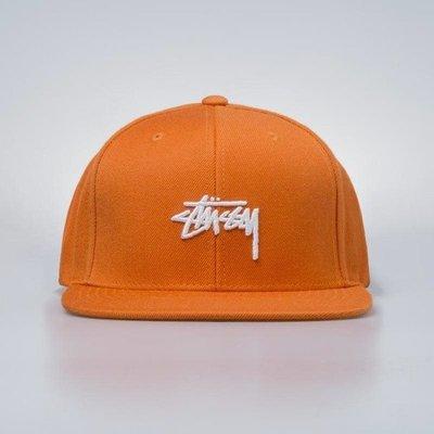 ☆ETW☆【一中店】 STUSSY STOCK CAP 排扣 棒球帽 橘色 經典 LOGO
