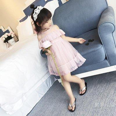 童裝兒童夏裝女童裙子2019新品韓版蕾絲紗裙女寶寶連身裙公主裙潮BBXZ17803