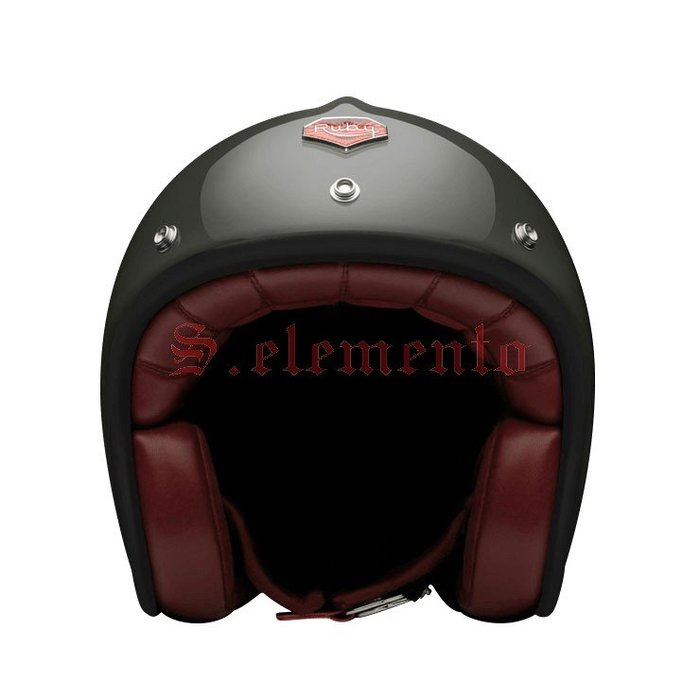 【預購優惠】Ateliers Ruby 安全帽 Pavillon École Militaire 碳纖維 3/4 復古帽