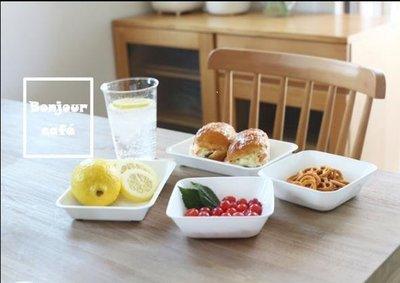 日本進口簡約白色廚房料理收納托盤3件套裝 st1531