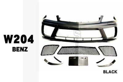小傑-全新 賓士 BENZ W204 07-14 C300 C250 Black 樣式 前保桿 前大包 素材