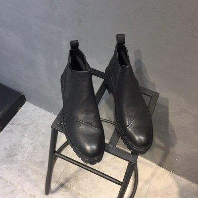 運動休閒鞋館~英倫朋克秋冬尖頭高幫皮鞋歐美時尚男士短靴休閒男鞋髪型師馬丁靴