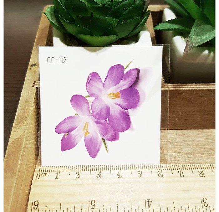 【萌古屋】花朵單圖CC-112 - 防水紋身貼紙刺青貼紙K38