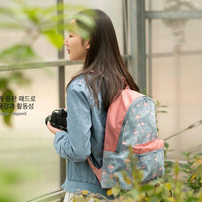EmmaShop艾購物-韓國輕便防水尼龍印花後背包