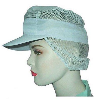 ☆°萊亞生活館 【A069工作帽14-男女適用】帽子。頭套。網帽。食品帽~(有M。L。XL可選)