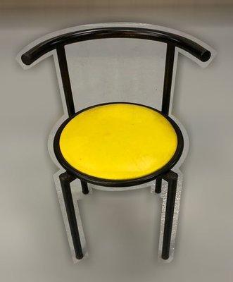 台中二手家具 大里宏品二手家具館 F112639*黃皮餐椅* 二手各式桌椅 中古辦公家具買賣 會議桌椅 辦公桌椅