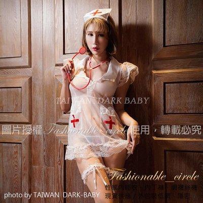 透膚性感柔紗情趣小護士連身裙角色扮演服...