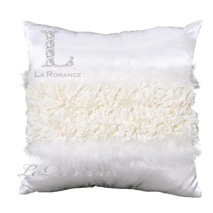 【芮洛蔓 La Romance】珍珠白絲質羽毛抱枕 - 珍珠白 / 抱枕 / 靠枕 / 方枕
