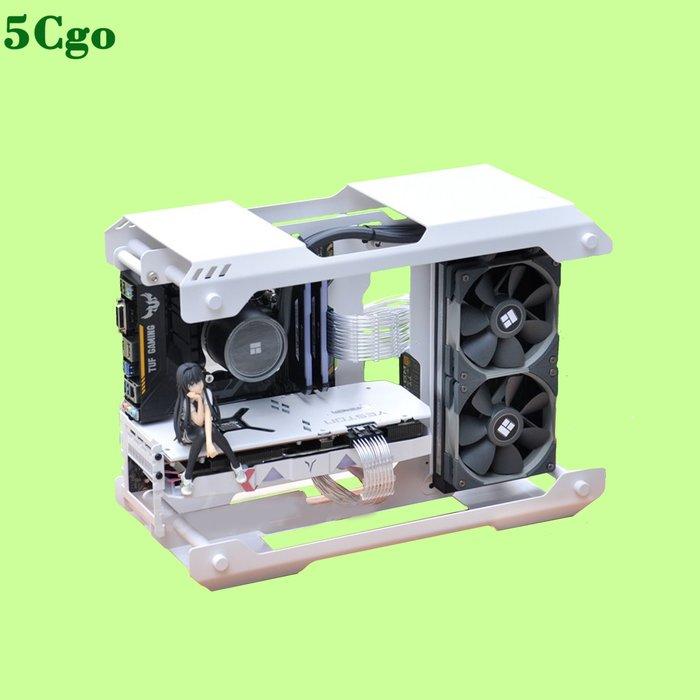 5Cgo【含稅】熾果Z01m AMD R5 3500X RX580雙面玻璃側透獨顯一體式水冷遊戲桌上型電腦主機開放式