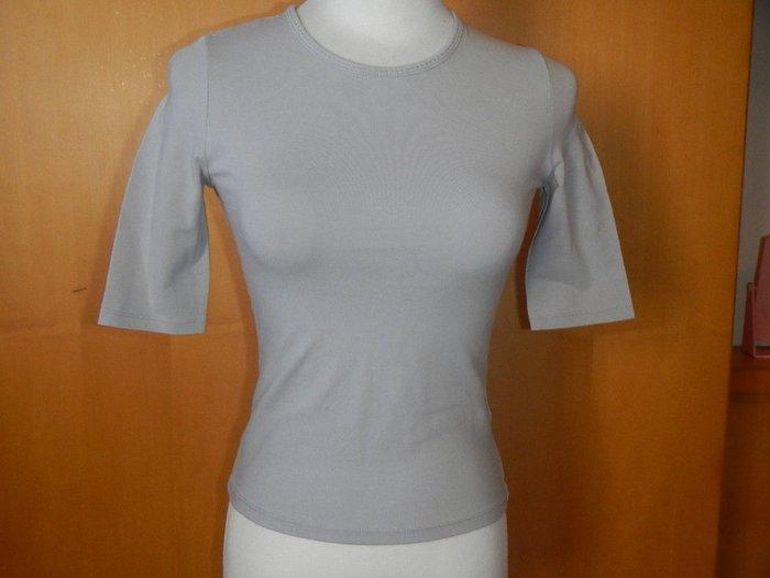 【甜心寶貝】G2000 淺灰圓領舒適5分袖上衣