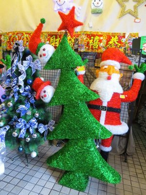 【洋洋小品】桃園平鎮中壢聖誕節大型場地佈置-聖誕節大型雪人聖誕樹+led燈串300cm