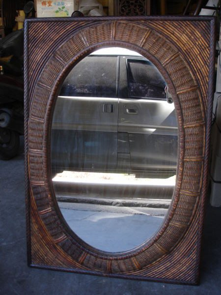 小o結緣館仿古傢俱........古色古香古董小掛鏡71x7x101