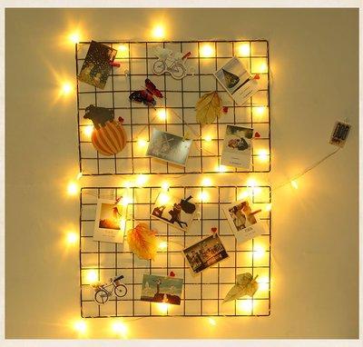 宏美飾品館~網格照片墻鐵絲網裝飾ins北歐少女房間臥室宿舍創意墻上掛件布置