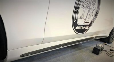 DJD19051220 BENZ W222 新S級 側裙碳纖維包覆服務 S350 S500