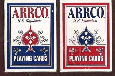【USPCC撲克牌】ARRCO US regulation 撲克牌 紅/藍任選一色(黑封標)