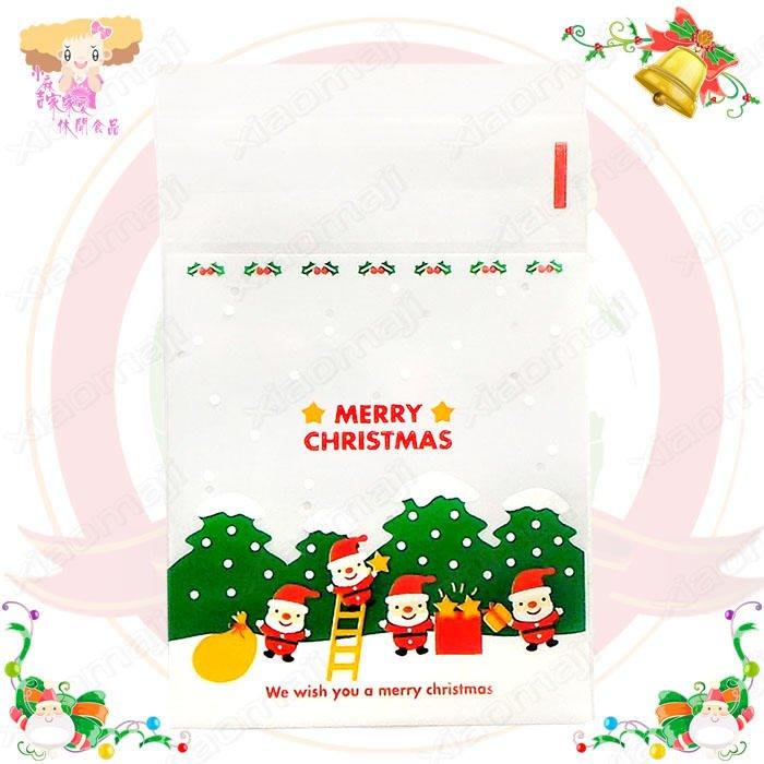 ☆小麻吉家家愛☆聖誕摘星老公公自黏袋一包50個特價45元聖聖節包裝袋 糖果節慶包裝必備