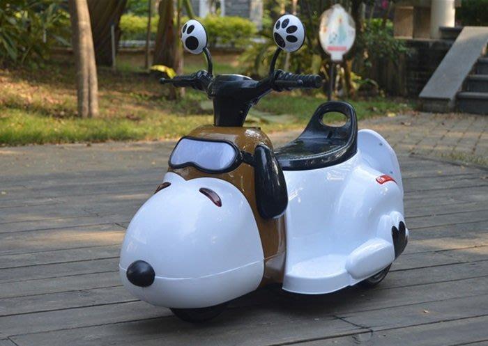 【阿LIN】 800083 5388 狗頭童車 圍攔版 造型電動摩托童車 摩托車 狗狗 USB 電動同車 充電