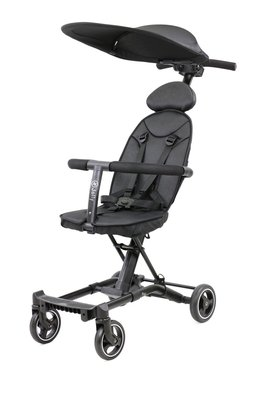 花媽(公司貨)Jolly 尊爵版輕便型摺疊手推車(黑/紅) 嬰兒車二胎神器 (含遮陽罩)