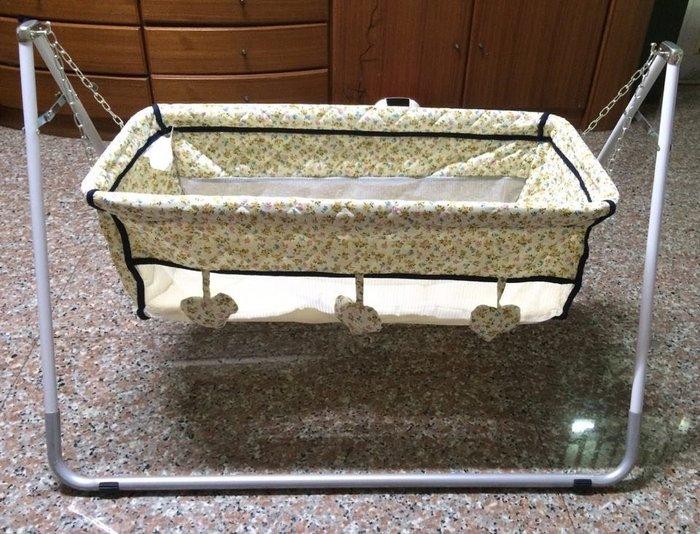 貝比的家-復古型手動嬰兒布搖籃/嬰兒布搖床/像抱在懷裡的傳統型/臺灣製-特價$1100
