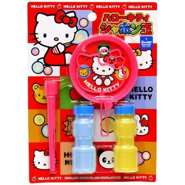 【Curiosity】日本製 Sanrio三麗鷗 Hello Kitty凱蒂貓造型吹泡泡組 $130↘$88